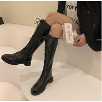 【預購】後拉鍊設計!超方便穿脫的長筒馬丁長靴膝下靴~2色
