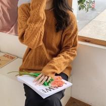 【預購】歐膩的衣櫃.韓國合作款 立體麻花針織衫~4色