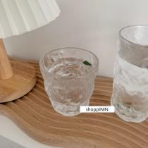 【預購】質感北歐風.冰川紋 設計款玻璃杯~2款