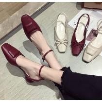 【預購】必備款微方頭低跟涼鞋~4款