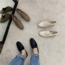 【預購】可正式可休閒!超纖軟皮好走樂福鞋~3色