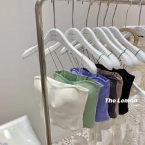 【預購】東大門款.衣櫃必備 細肩帶小可愛背心~6色(內含胸墊)