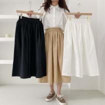 【預購】東大門款.法式質感 顯瘦鬆緊腰大裙襬傘裙~3色