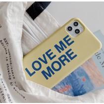 【預購】愛我多一點.Iphone簡約字母情侶包邊軟殼