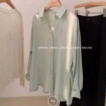 【預購】闆娘超推!日系質感文藝風 百搭款襯衫~7色