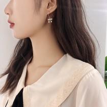 【預購】韓 鋯石蝴蝶結耳勾耳環