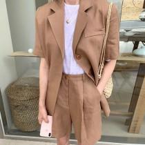 【預購】文藝女子的西裝外套 + 短褲套裝(上下需分開購買)