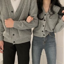 【預購】韓IG 復古學院風麻花紋針織衫毛衣外套~5色(男女款都有)
