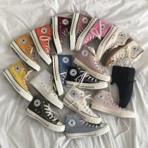 【預購】1970s 復刻 經典百搭款 高筒帆布鞋~18色(部分顏色有做35~44全尺寸)