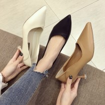 【預購】知性女子專用.俐落感超好走尖頭高跟鞋~3色