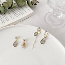 【預購】韓風設計款輕奢感垂墜925銀針耳針式耳環~2款