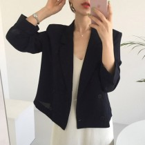 【預購】韓IG 很百搭的短款雙排扣西裝外套~2色
