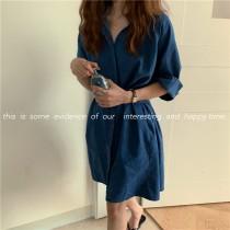 【預購】歐膩日常.衣櫃必備的兩穿式牛仔短洋裝