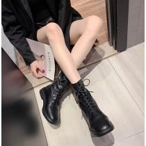 【預購】莫名很顯腿細的.法式中筒瘦瘦靴~2色(35~40)