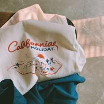 【預購】加州印象.小眾設計款手繪短袖棉Tee