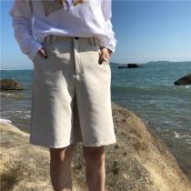 【預購】偶爾帥氣一下.中性風高腰西裝五分褲~2色