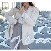【預購】歐膩的衣櫃.微法式 知性女子 兩粒扣西裝外套~2色
