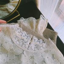 【預購】韓國訂單.溫柔文藝風 滿版花朵 重工棉質蕾絲內搭