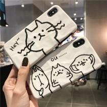 【預購】喵~帶我回家!搞怪貓咪Iphone手機軟殼~2款
