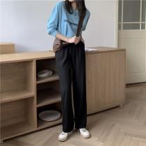 【預購】垂感超好!百搭款 後鬆緊 西裝微寬褲~3色(S~XL)