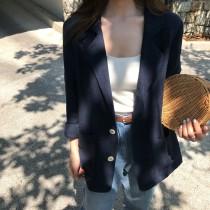 【預購】春夏薄款棉麻西裝外套~3色