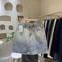 【預購】東大門款.漸層暈染牛仔包臀短裙