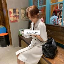 【預購】限量款 - 質感歐膩  法式雙排扣雪紡設計款洋裝~2色