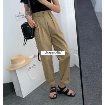 【預購】隨時可能斷貨的限量款!褲型很厲害的百搭款休閒褲~3色