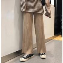 【預購】秋冬超百搭!厚針織寬褲~4色