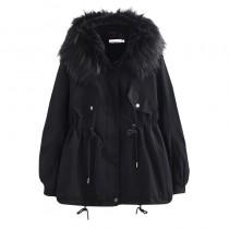 【預購】保暖又很顯瘦的.百搭款收腰軍外套(S~2XL)