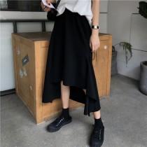 【預購】百搭顯瘦的不規則彈力半身裙