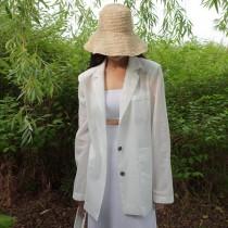 【預購】知性女子專用.微透膚薄款西裝外套