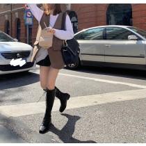【預購】秋冬來一件~配上靴子就帥了 質感深咖啡色西裝背心