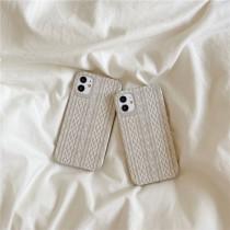 【預購】冬日暖陽.麻花編織紋 全包邊手機軟殼