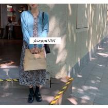 【預購】歐膩的衣櫃.文藝風小碎花長洋裝~2色