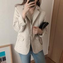 【預購】韓IG 小香風小格紋西裝外套~2色