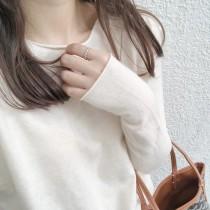 【預購】溫柔風.很柔軟的衣櫃必備捲邊上衣~10色