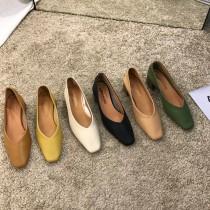 【預購】廠商回饋款!韓風知性微方頭低跟奶奶鞋~6色