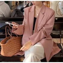 【預購】韓IG 溫柔女子專用.粉色西裝外套