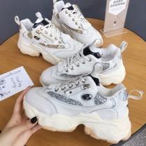 【預購】韓款拉鍊亮片老爹鞋~2色