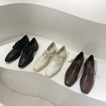 【預購】高質感經典款!超好走 微方頭雕花中跟牛津鞋~3色