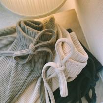 【預購】買一件就會想回來包色!超舒服版型又好的針織寬褲~3色