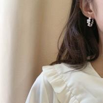 【預購】知性女子專用.巴洛克珍珠環925銀針耳針式耳環