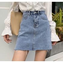 【預購】經典款微復古刷色牛仔短裙