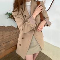 【預購】春秋款.法式優雅風 雙排扣西裝外套
