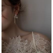 【預購】蝴蝶流蘇.精緻輕奢感水鑽耳環(耳針、耳夾款都有)