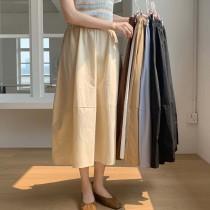 【預購】東大門款.溫柔風 鬆緊腰百搭傘裙~6色