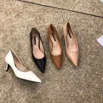 【預購】歐膩的鞋櫃.怎麼搭都很美的尖頭高跟鞋~5色