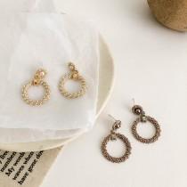 【預購】韓款.復古珍珠環925銀針耳環