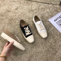 【預購】歐膩的鞋櫃.韓國人氣款方頭帆布鞋~3色